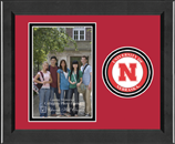University of Nebraska Photo Frame - Lasting Memories Circle Logo Photo Frame in Arena