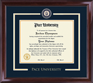 Pace University Diploma Frame - Showcase Edition Diploma Frame in Encore