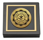York College of Nebraska Paperweight - Gold Engraved Medallion Paperweight