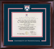University of Pennsylvania Diploma Frame - Spirit Medallion Diploma Frame in Encore