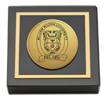 William Woods University Paperweight - Gold Engraved Medallion Paperweight
