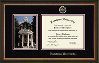 Kutztown University Diploma Frame - Campus Scene Edition Diploma Frame in Murano