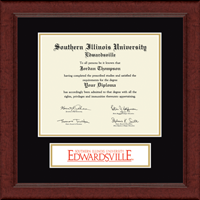 Southern Illinois University at Edwardsville Diploma Frame - Banner Edition Diploma Frame in Sierra