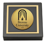 Brenau University Paperweight - Gold Engraved Medallion Paperweight