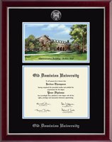 Old Dominion University Diploma Frame - Campus Scene Edition Diploma Frame in Gallery Silver
