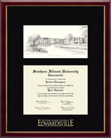 Southern Illinois University at Edwardsville Diploma Frame - Campus Scene Edition Diploma Frame in Galleria