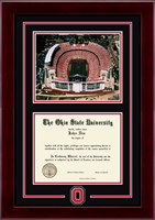 The Ohio State University Diploma Frame - Spirit Medallion Stadium Scene Diploma Frame in Cordova