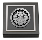 Mansfield University of Pennsylvania Paperweight - Silver Engraved Medallion Paperweight