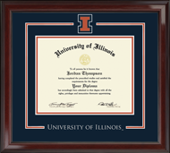 University of Illinois Diploma Frame - Spirit Medallion Diploma Frame in Encore