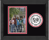 The University of New Mexico Photo Frame - Lasting Memories Circle Logo Photo Frame in Arena