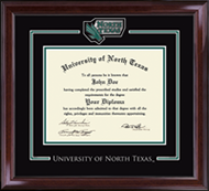 University of North Texas Diploma Frame - Spirit Medallion Diploma Frame in Encore