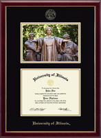 University of Illinois Diploma Frame - Campus Scene Diploma Frame in Galleria