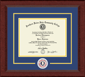 Southern Union State Community College Diploma Frame - Lasting Memories Circle Logo Diploma Frame in Sierra