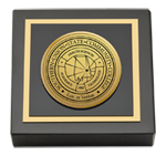 Southern Union State Community College Paperweight - Gold Engraved Medallion Paperweight