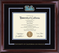 University of California Los Angeles Diploma Frame - Spirit Medallion Diploma Frame in Encore