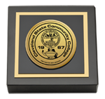 Cleveland State Community College Paperweight - Gold Engraved Medallion Paperweight