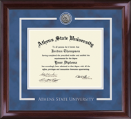 Athens State University Diploma Frame - Silver Engraved Medallion Diploma Frame in Encore