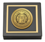 Central Georgia Technical College Paperweight - Gold Engraved Medallion Paperweight