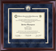 Western Connecticut State University Diploma Frame - Showcase Edition Diploma Frame in Encore