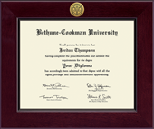 Bethune-Cookman University Diploma Frame - Century Gold Engraved Diploma Frame in Cordova