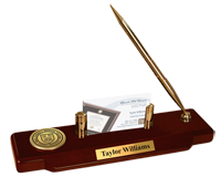 Cornell University Desk Pen Set - Gold Engraved Medallion Desk Pen Set