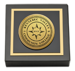 Kennebec Valley Community College Paperweight - Gold Engraved Medallion Paperweight