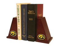 The University of Iowa Bookends - Spirit Medallion Bookends