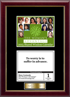 The Woman's Advantage Calendar Frame - 2015 'Quote of The Day' Calendar Page Frame with Goldtone Plate in Galleria