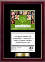 The Woman's Advantage Calendar Frame - 2014 'Quote of The Day' Calendar Page Frame with Goldtone Plate in Galleria