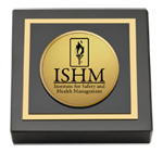 Institute for Safety and Health Management Paperweight - Gold Engraved Medallion Paperweight