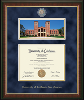 University of California Los Angeles Diploma Frame - Royce Hall Campus Scene Edition (Photo by Huy Moeller '12) Masterpiece Medallion Diploma Frame in Murano