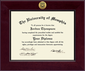 The University of Memphis Diploma Frame - Century Gold Engraved Diploma Frame in Cordova
