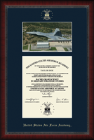 United States Air Force Academy Diploma Frame - Campus Scene Diploma Frame in Sutton