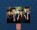 Syracuse University Photo Frame - Spectrum Pattern Photo Frame