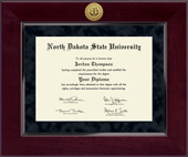 North Dakota State University Diploma Frame - Millennium Gold Engraved Diploma Frame in Cordova