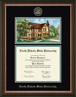 North Dakota State University Diploma Frame - Campus Scene Edition Diploma Frame in Murano