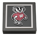 University of Wisconsin Madison Paperweight - Spirit Badger Logo Medallion Paperweight