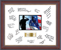 United States Coast Guard Autograph Frame - Autograph Frame in Kensington Gold