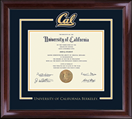 University of California Berkeley Diploma Frame - Spirit Medallion Diploma Frame in Encore