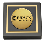 Judson University Paperweight - Gold Engraved Medallion Paperweight