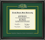 North Dakota State University Diploma Frame - Spirit Medallion Diploma Frame in Midnight