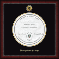 Hampshire College Diploma Frame - Gold Engraved Medallion Diploma Frame in Sutton