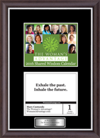 The Woman's Advantage Calendar Frame - 2016 'Quote of The Day' Calendar Page Frame with Silvertone Plate in Devon