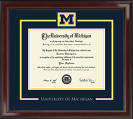 The University of Michigan Diploma Frame - Showcase Edition Diploma Frame in Encore