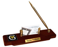 Gustavus Adolphus College Desk Pen Set - Masterpiece Medallion Desk Pen Set