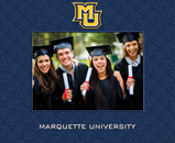 Marquette University Photo Frame - Spectrum Pattern Photo Frame