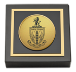 Life University Paperweight - Gold Engraved Medallion Paperweight