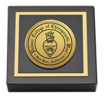 Palmer College of Chiropractic West Campus Paperweight - Gold Engraved Medallion Paperweight