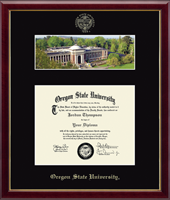 Oregon State University Diploma Frame - Campus Scene Diploma Frame in Galleria