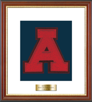 Avon Old Farms School in Connecticut Varsity Letter Frame - Varsity Letter Frame in Newport